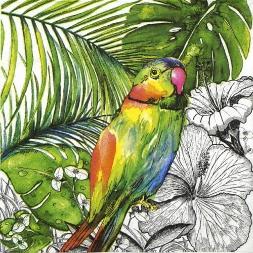 Paper Napkin - Jungle Parrot