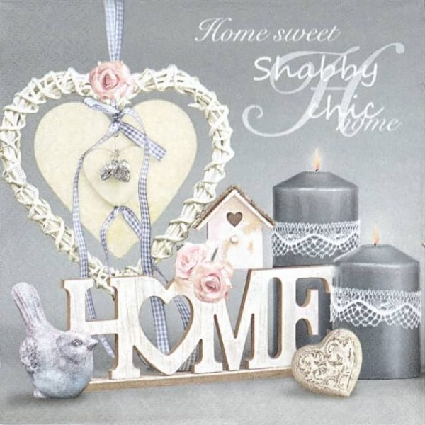 Paper Napkin - Shabby Chick with Birdhouse