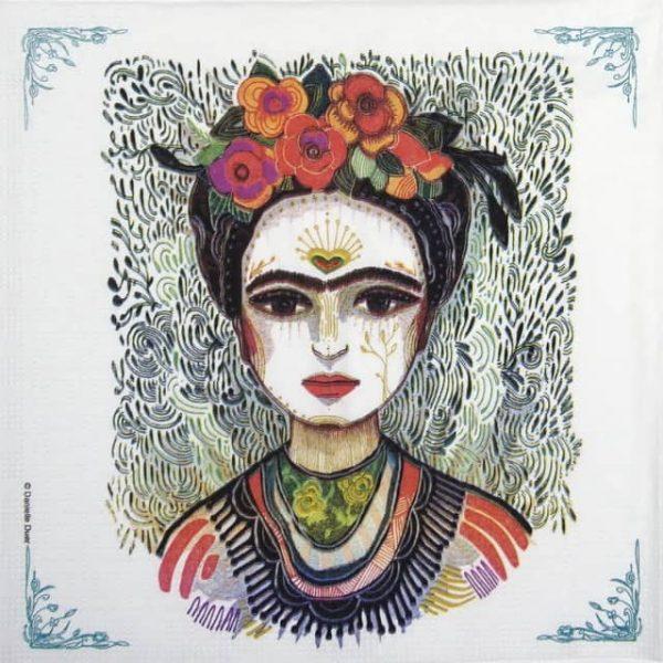 Lunch Napkins (20) - Danielle Duer: Frida: Memory the Heart