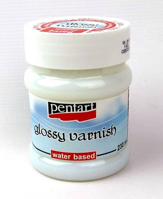 Pentart Glossy Varnish, Water Based, 230ml