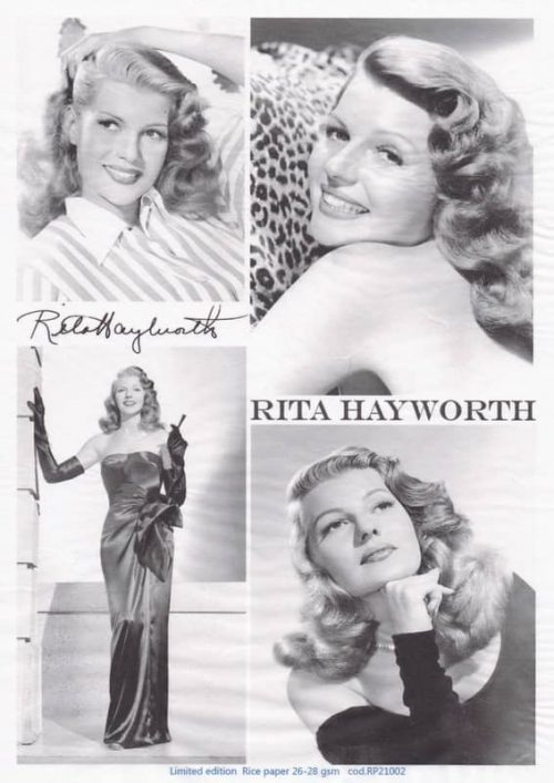 Rice Paper - Rita Hayworth black