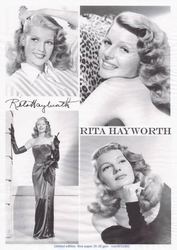 Rice Paper - Rita Hayworth black