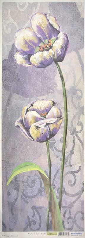 Rice Paper - Violet Tulip