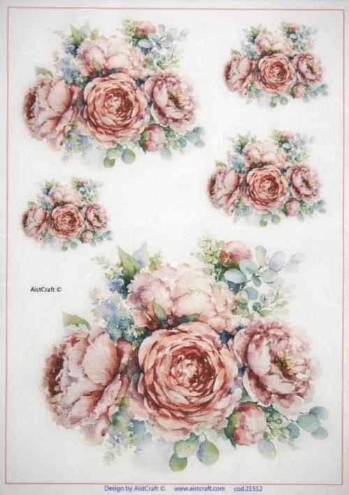 Rice Paper -  Bouquets  L