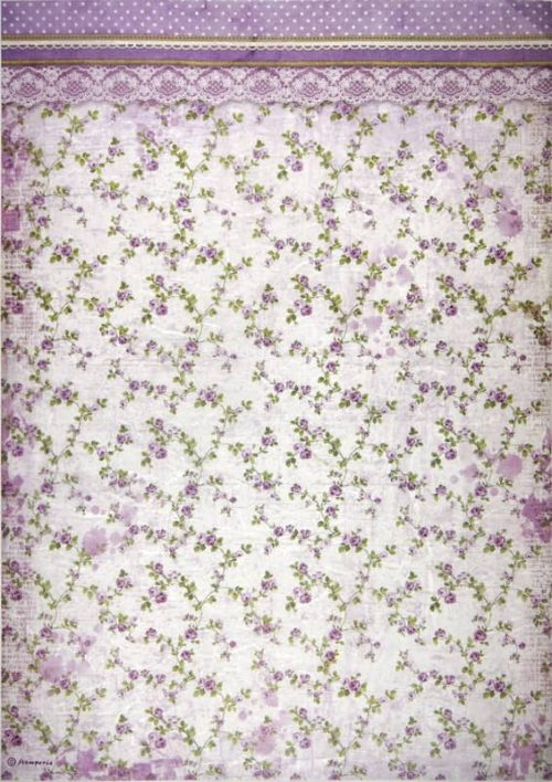 Rice Paper - Provence Flowers