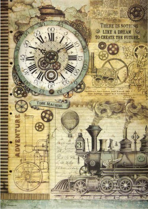 Rice Paper - Voyages Clock