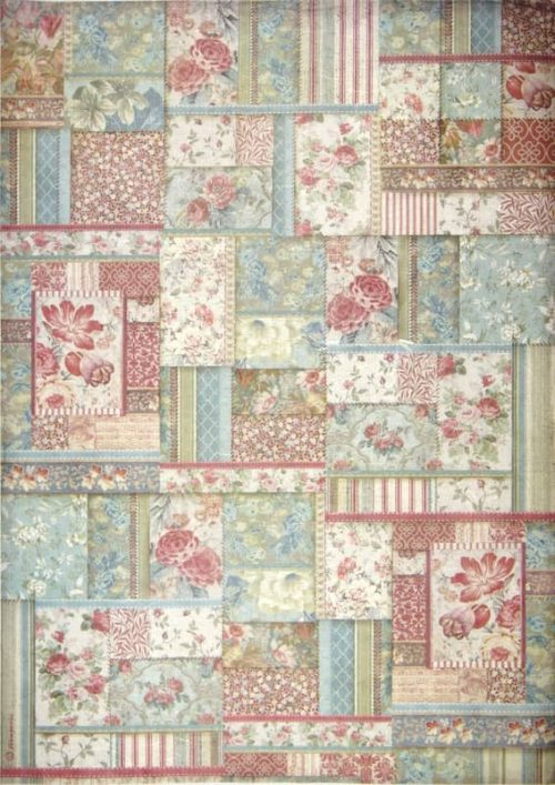 Rice Paper - Flower Patchwork