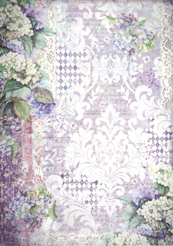 Rice Paper - Hortensia wallpaper