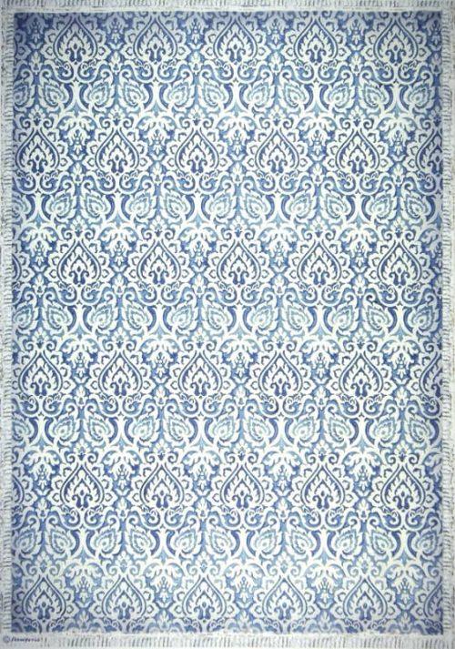 Rice Paper - Damask blue
