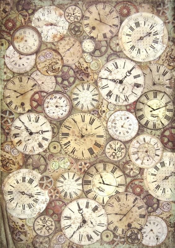Rice Paper - Lady Vagabond clock and mechanisms