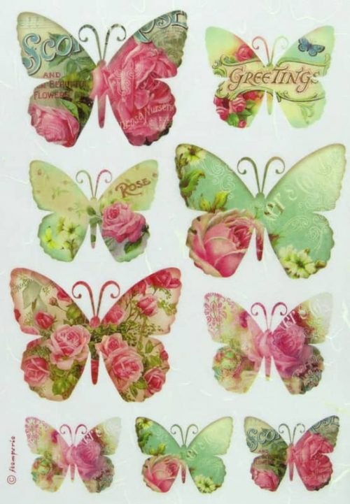 Rice Paper - Greetings Butterflies