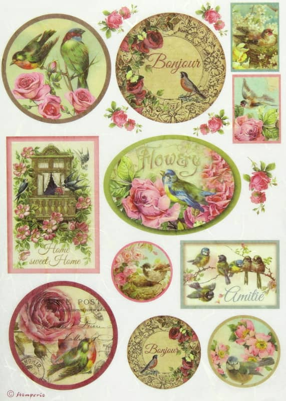Rice Paper - Birds and Balcony