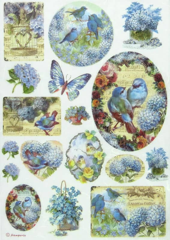 Rice Paper - Birds & Butterfly