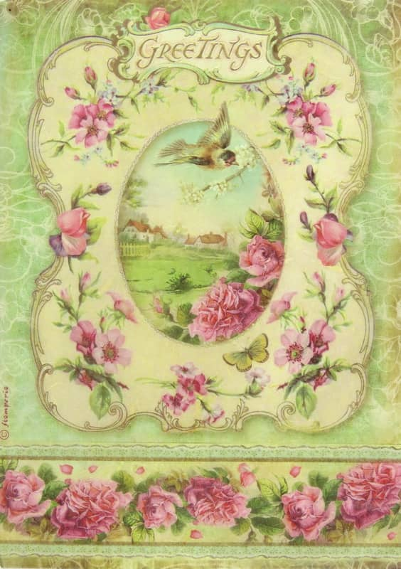 Rice Paper - Greetings Frame