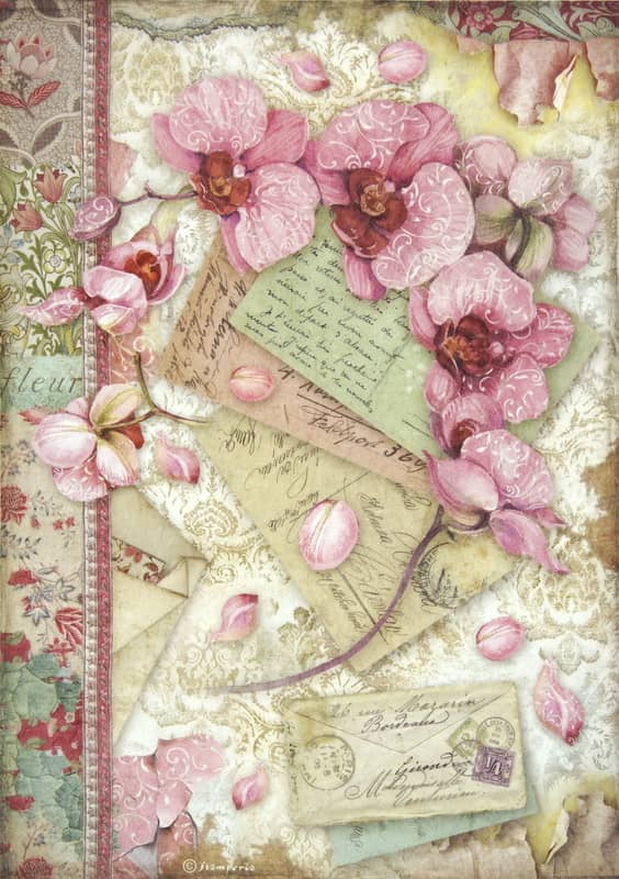 Rice Paper - Pink Orchid