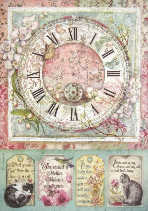 Rice Paper - Clock
