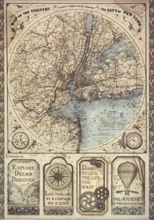 Rice Paper - Sir Vagabond map of New York