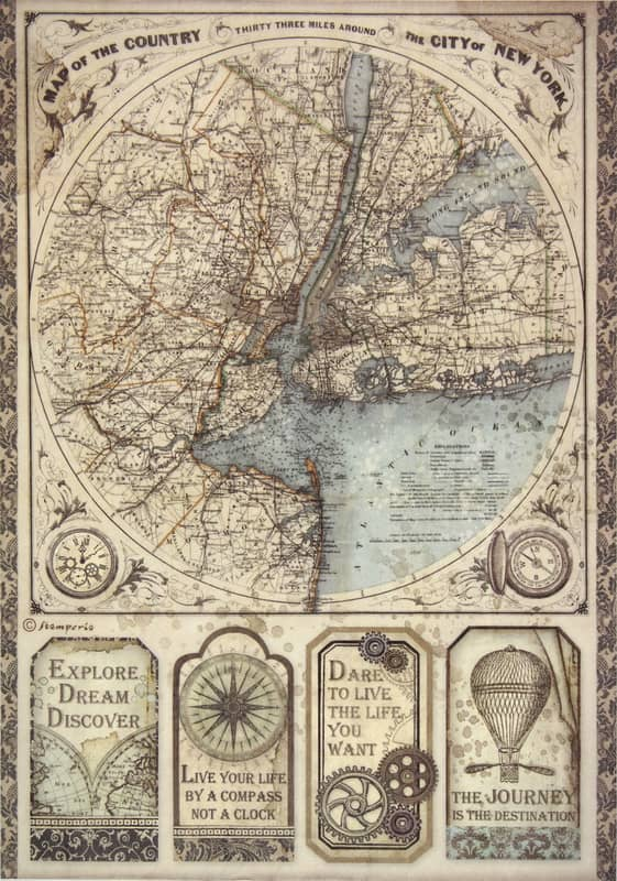 Rice Paper - Sir Vagabond map of New York