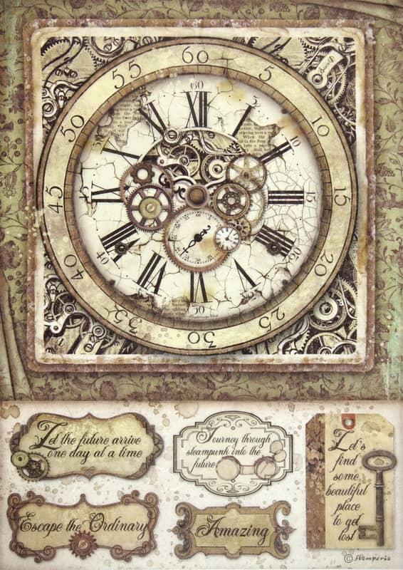 Rice Paper - Lady Vagabond clock with mechanisms