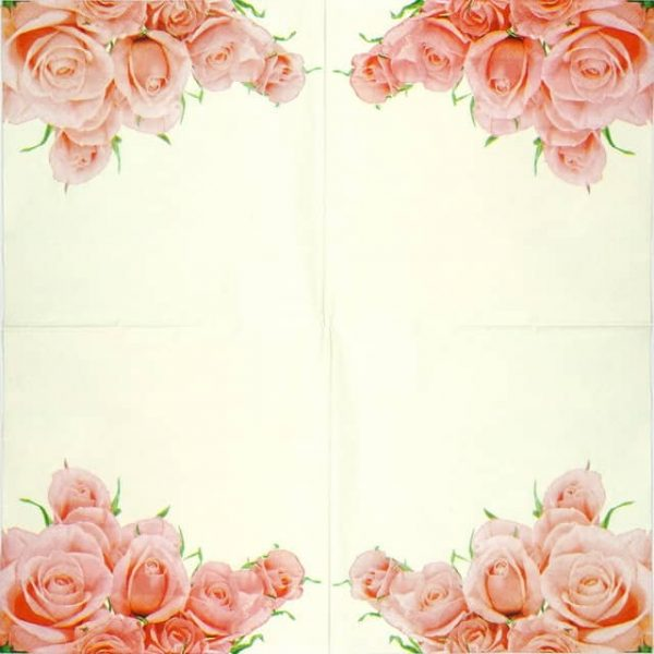 Lunch Napkins (20) - Light Pink Rose