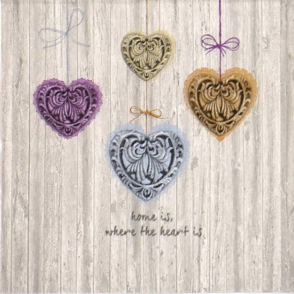 Paper Napkin - Home is where the heart is