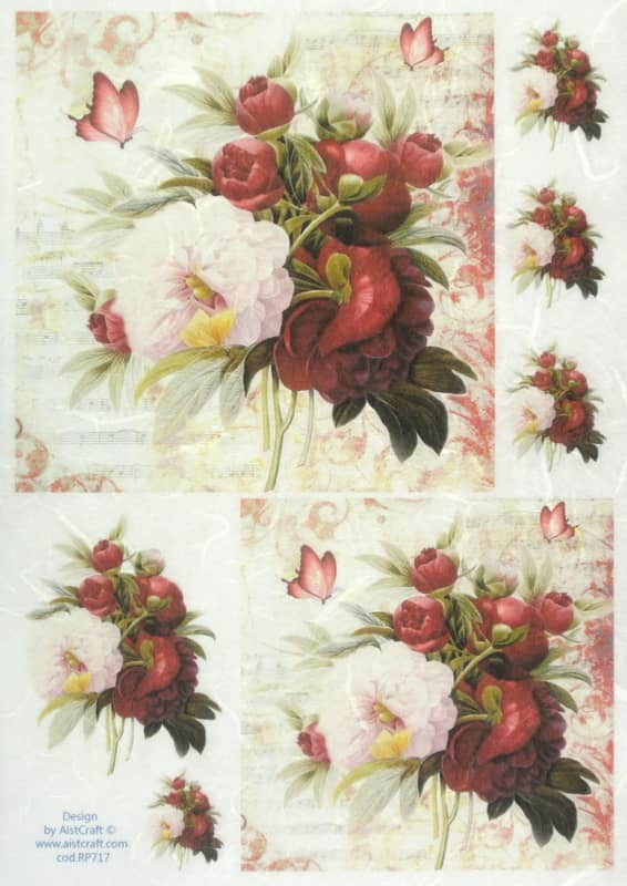 Rice Paper - Red Bouquet Small