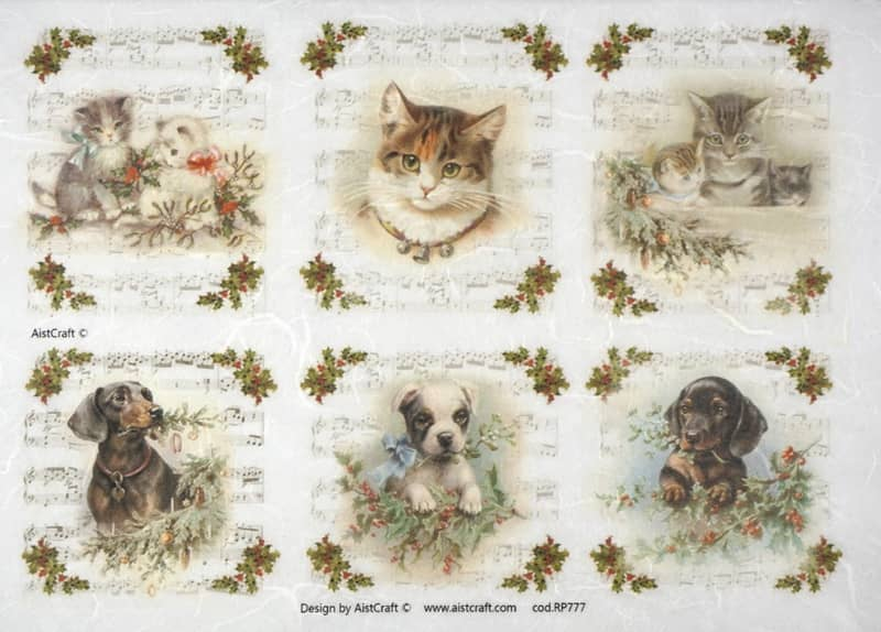 Rice Paper - Winter Animal sing