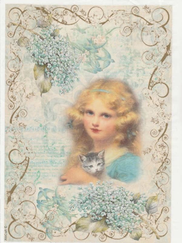 Rice Paper - Girl and Cat
