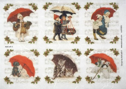 Rice Paper - Winter Umbrella