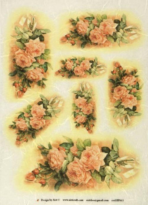 Rice Paper - Vintage roses large