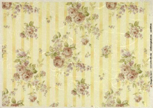 Rice Paper - Vintage Roses Background