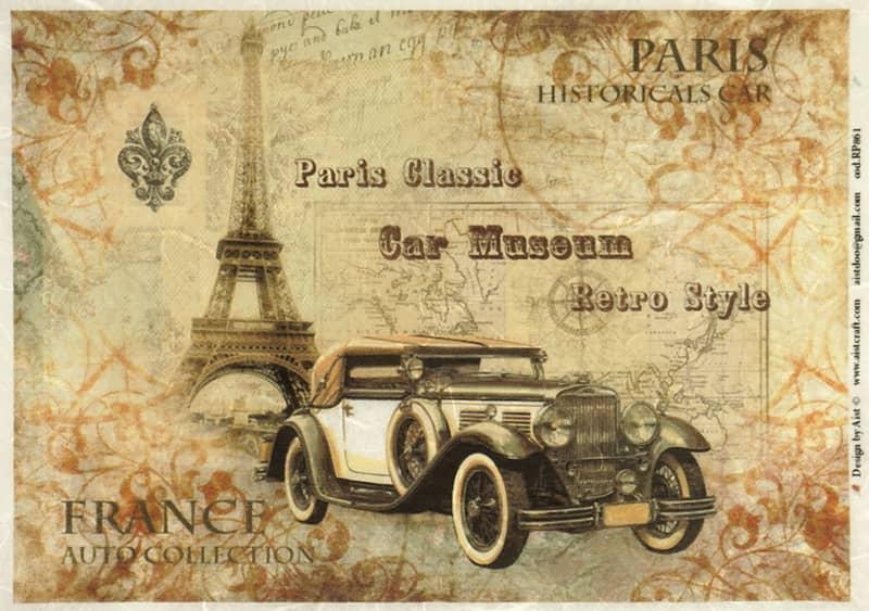 Rice Paper - Paris Historical Car