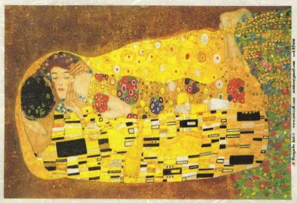 Rice Paper - Klimt: Kiss