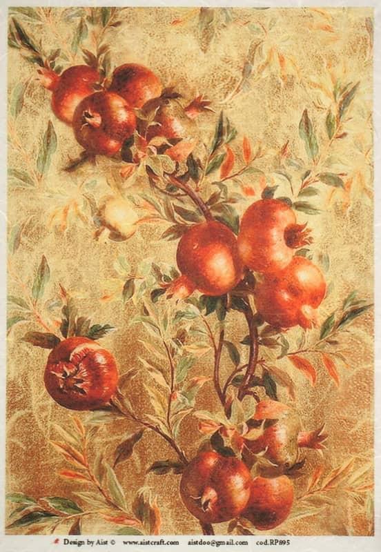 Rice Paper - Vintage Pomegranate-