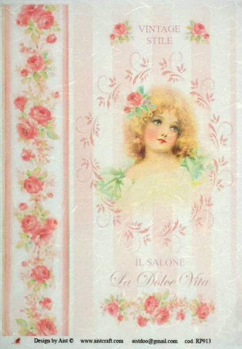 Rice Paper - Vintage Stile Girl