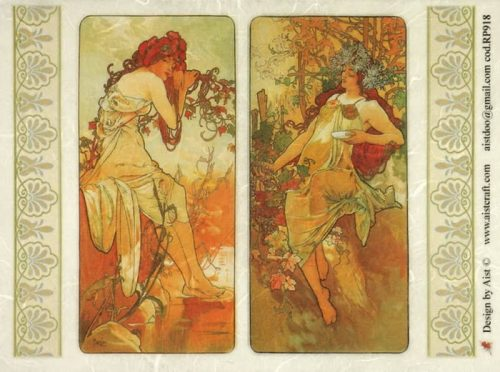 Rice Paper - Mucha: Four Seasons 1
