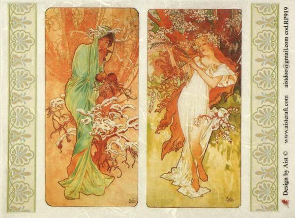 Rice Paper - Mucha: Four Seasons 2