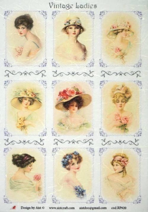 Rice Paper - Vintage Ladies