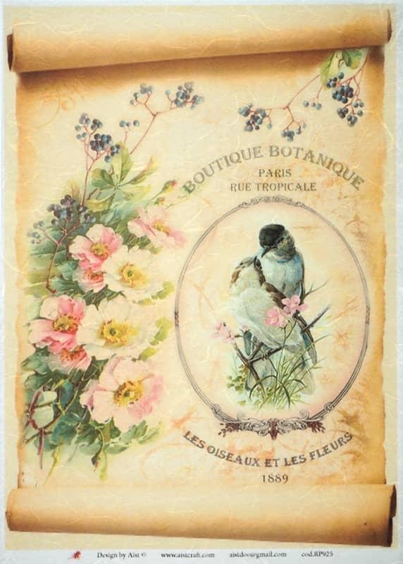 Rice Paper - Vintage Botanic Garden