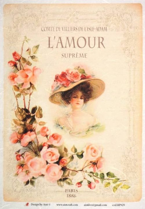 Rice Paper - Vintage L'amour Lady