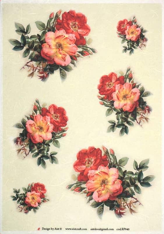 Rice Paper - Vintage Small Bouquet