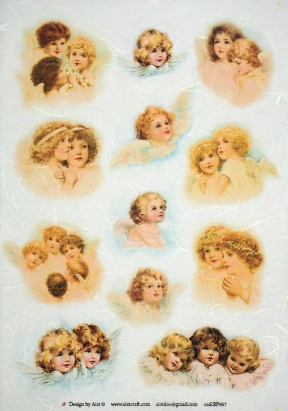 Rice Paper - Vintage Small Angels