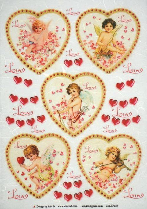 Rice Paper - Vintage Angels Love-