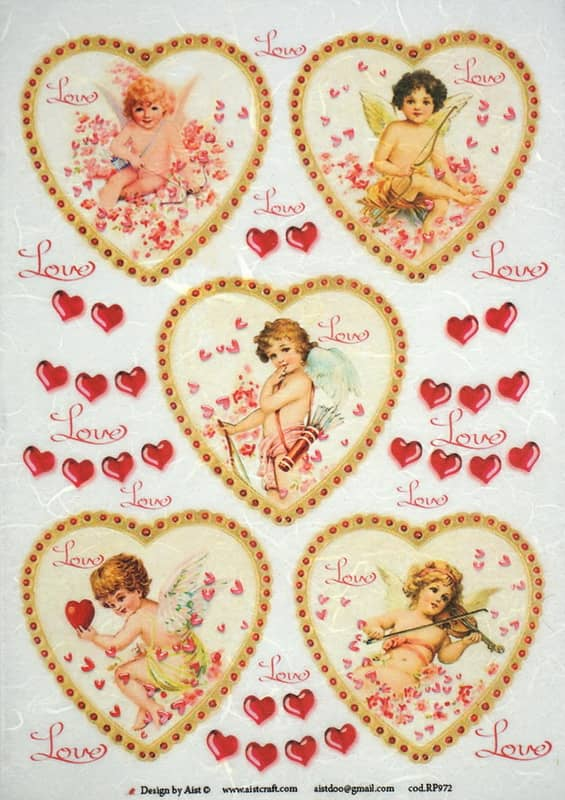 Rice Paper - Vintage Angels Love-