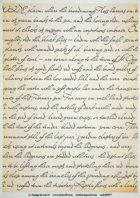 Rice Paper - Vintage Old Writing