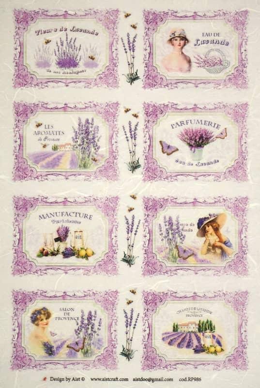 Rice Paper - Lavender Labels
