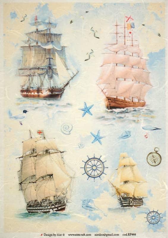 Rice Paper - Sailboats