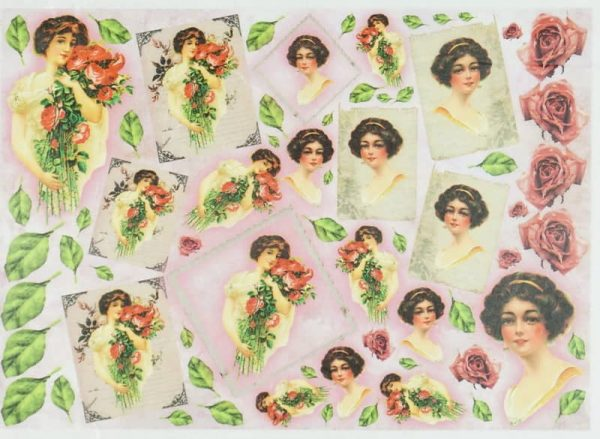 Rice Paper - Women with flowers