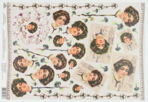 Rice Paper - Vintage Lady Mary Postcards