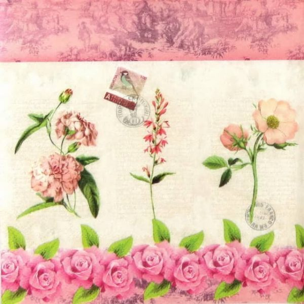 Paper Napkin - French Roses